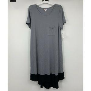 Lularoe Carlry Solid Black Gray